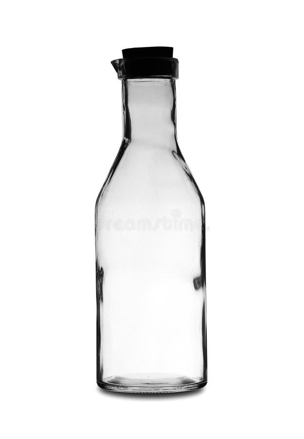 Una botella vacía grande con un tapón imagenes de archivo