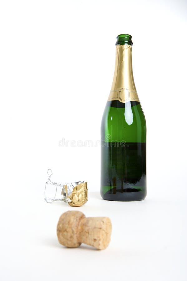 Una bottiglia aperta fotografia stock libera da diritti