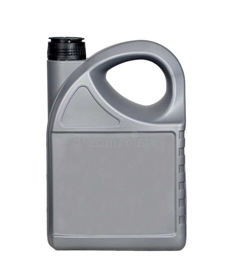 una bottiglia dei 4 lubrificanti di litro immagini stock