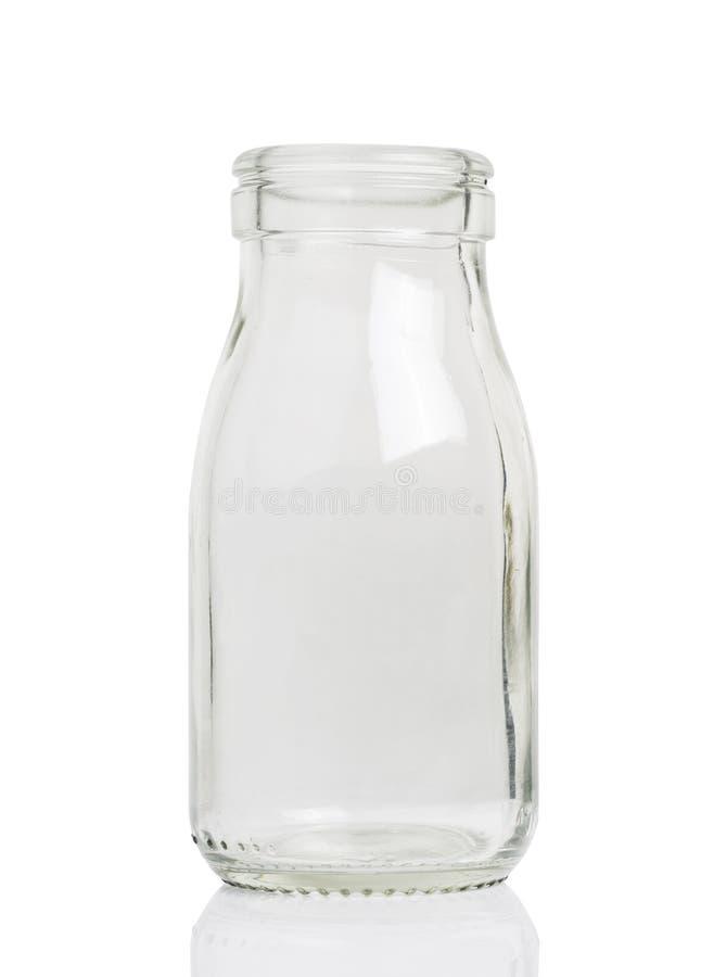 Una bottiglia per il latte vuota immagine stock libera da diritti