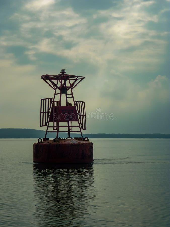 Una boya en la isla de Johor imagenes de archivo
