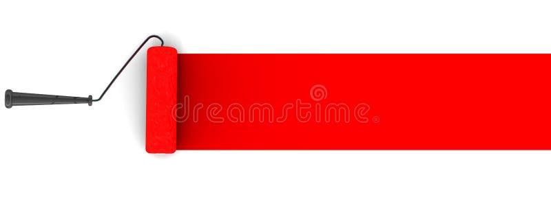 Brocha roja stock de ilustración