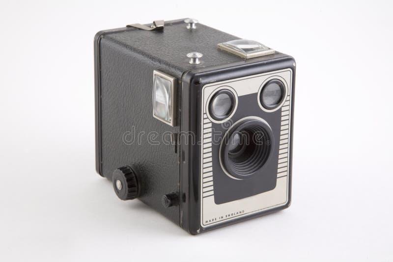 Una cámara de rectángulo de la vendimia fotos de archivo