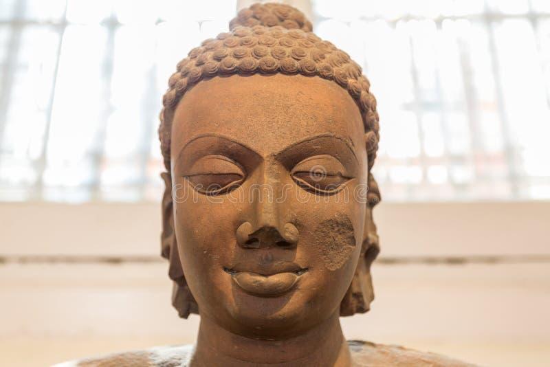 Una cabeza de Buda fotos de archivo libres de regalías