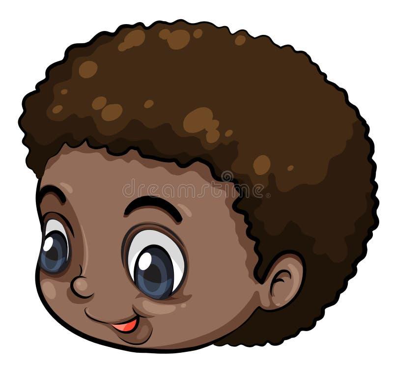 Una cabeza de un hombre joven negro libre illustration