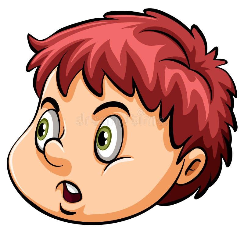 Una cabeza de un muchacho joven ilustración del vector