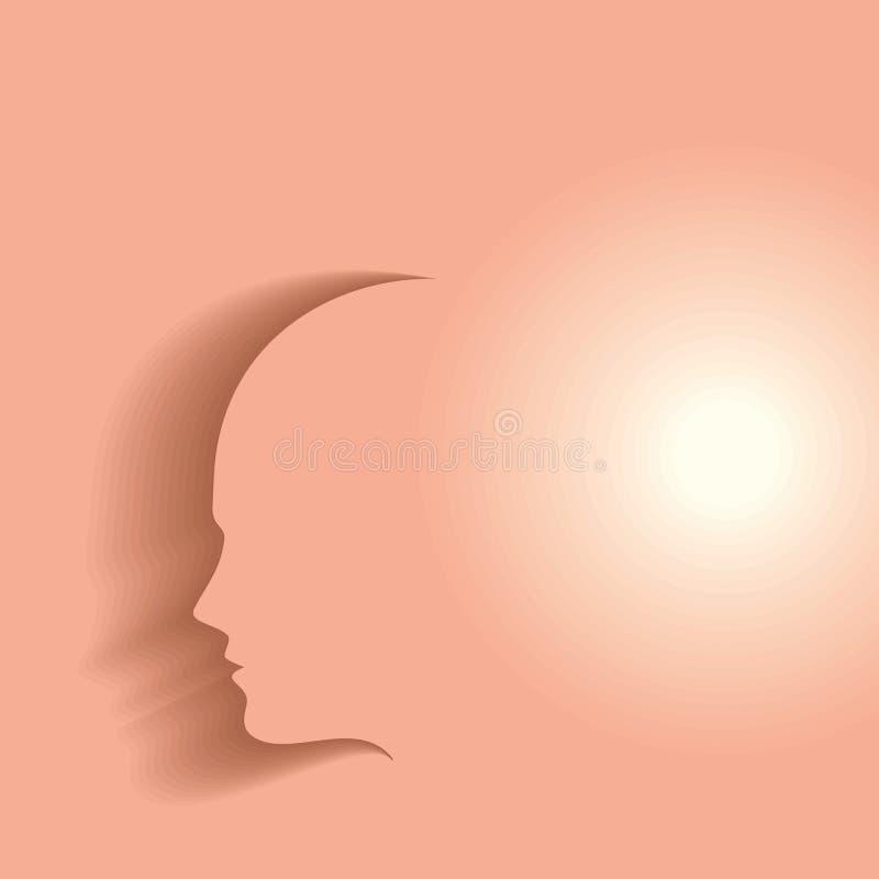 Una cabeza humana que piensa nueva idea libre illustration