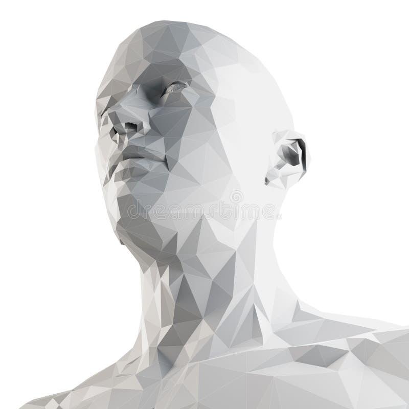 Una cabeza polivinílica del estilo ilustración del vector