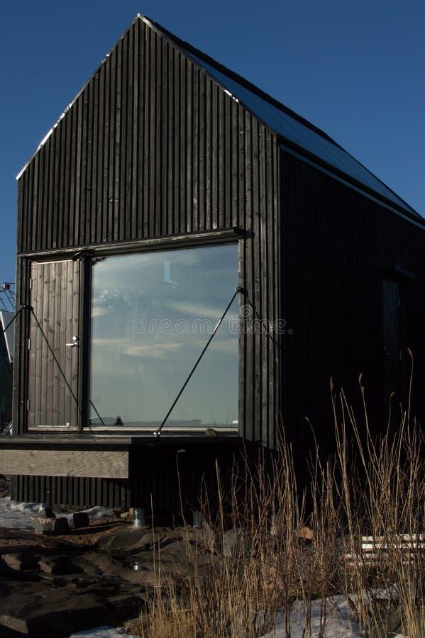 Una cabina finlandesa del tradional fotos de archivo