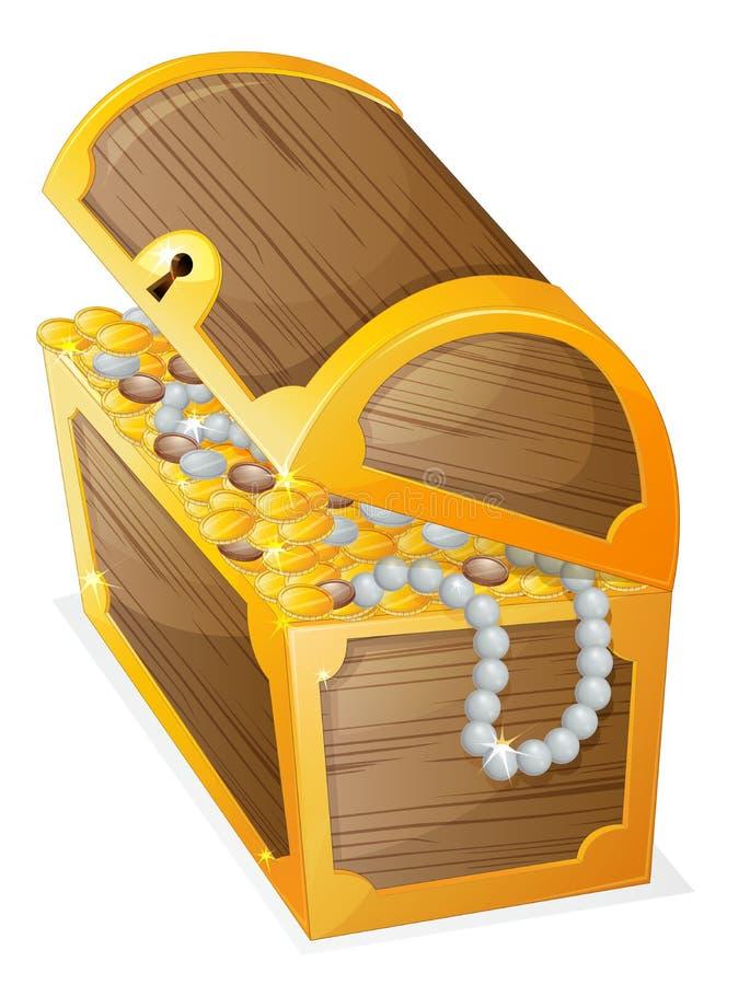 Una caja de joyería stock de ilustración