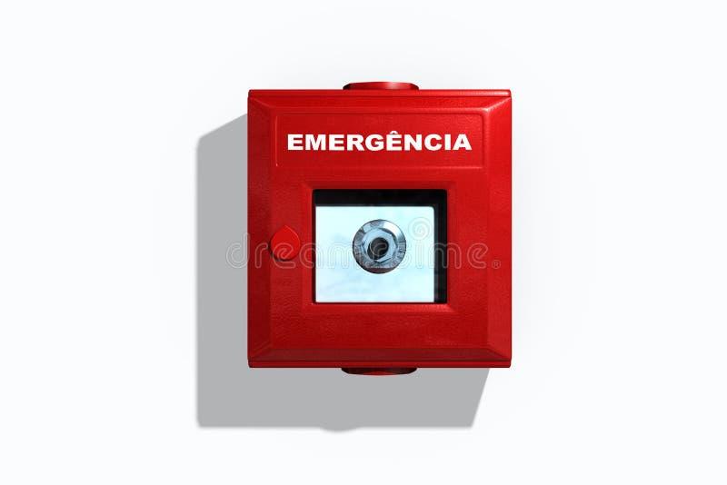 Una caja termoplástica de la emergencia stock de ilustración