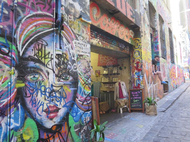 Una calle colorida imágenes de archivo libres de regalías