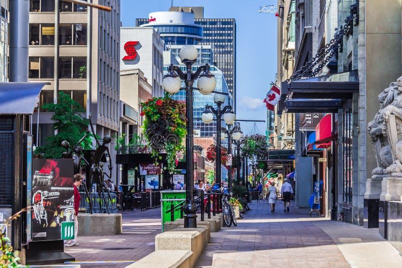 Una calle en Ottawa imagen de archivo