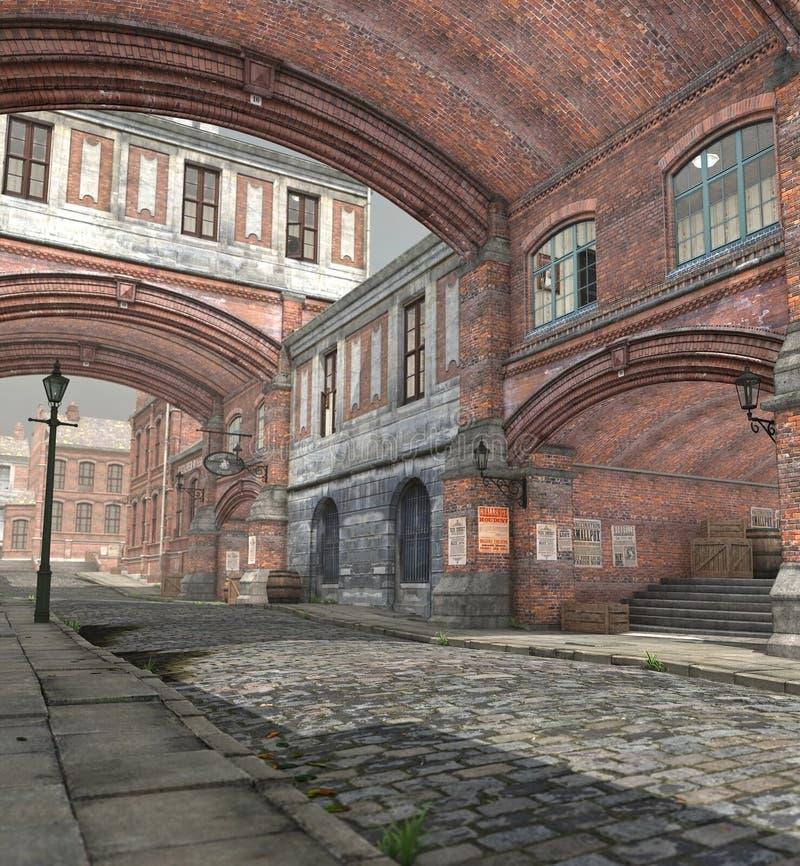 Una calle reservada de Londres stock de ilustración