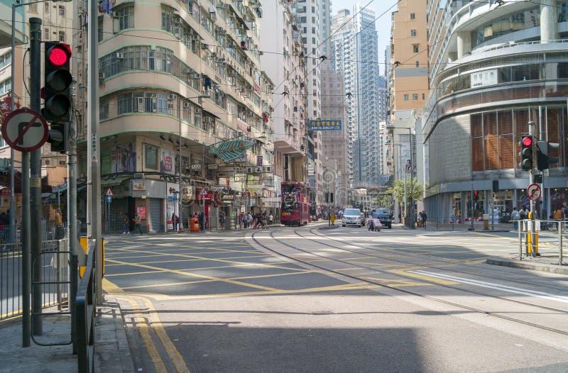 Una calle vacía de Hong Kong fotografía de archivo
