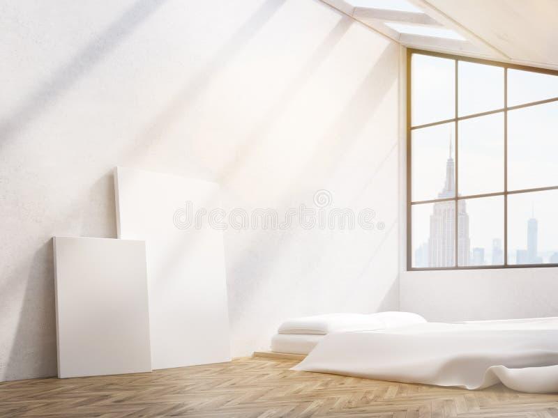 Una camera da letto di due manifesti royalty illustrazione gratis