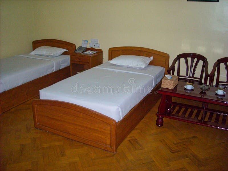 una camera di albergo nel Vietnam fotografia stock