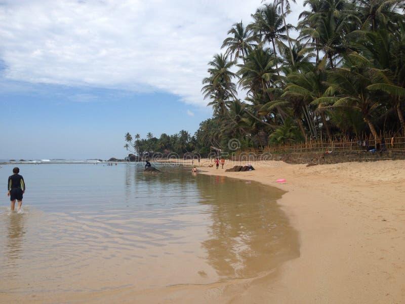 Una caminata en la playa fotografía de archivo libre de regalías