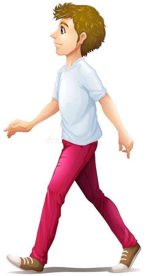 Una camminata dell'uomo royalty illustrazione gratis