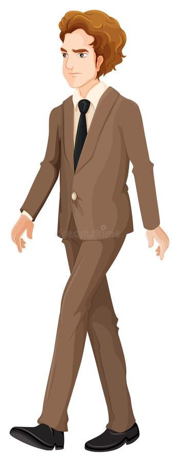 Una camminata seria dell'uomo d'affari illustrazione vettoriale