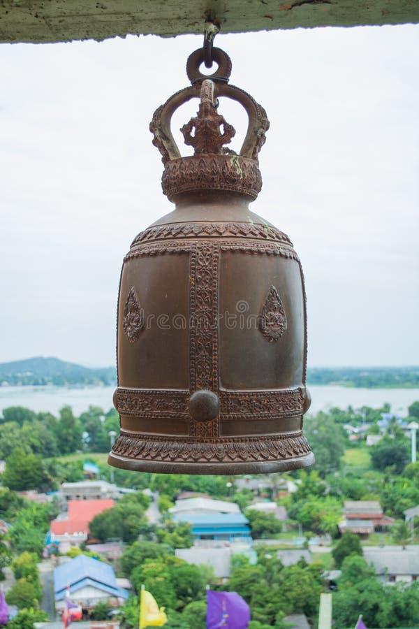Una campana in tempio tailandese immagine stock libera da diritti