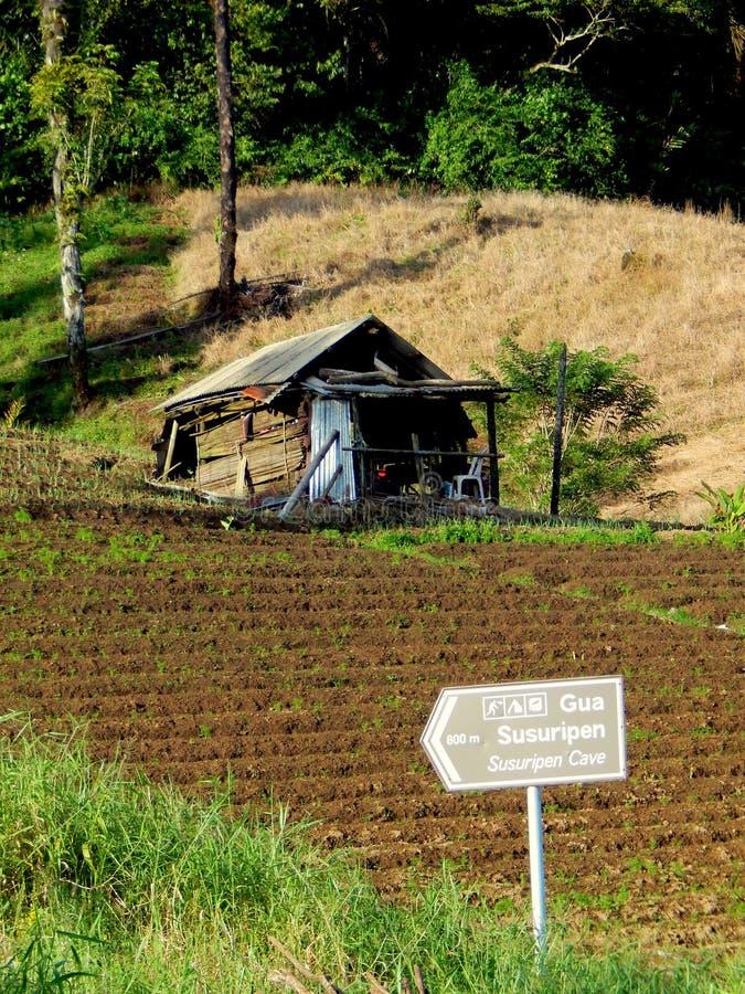 Una capanna sull'azienda agricola dell'altopiano immagine stock libera da diritti