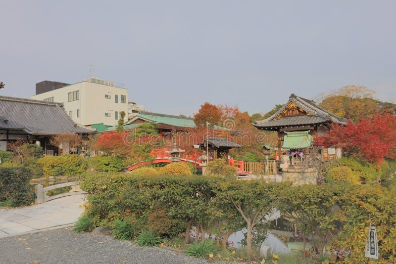 Una capilla del en del shinsen de Kyoto Japón en la temporada de otoño foto de archivo libre de regalías