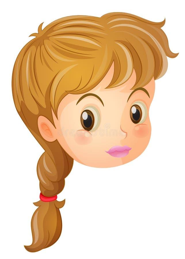 Una cara bonita de una muchacha stock de ilustración