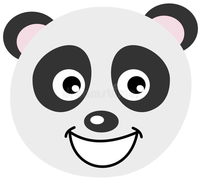 Una cara de la panda libre illustration