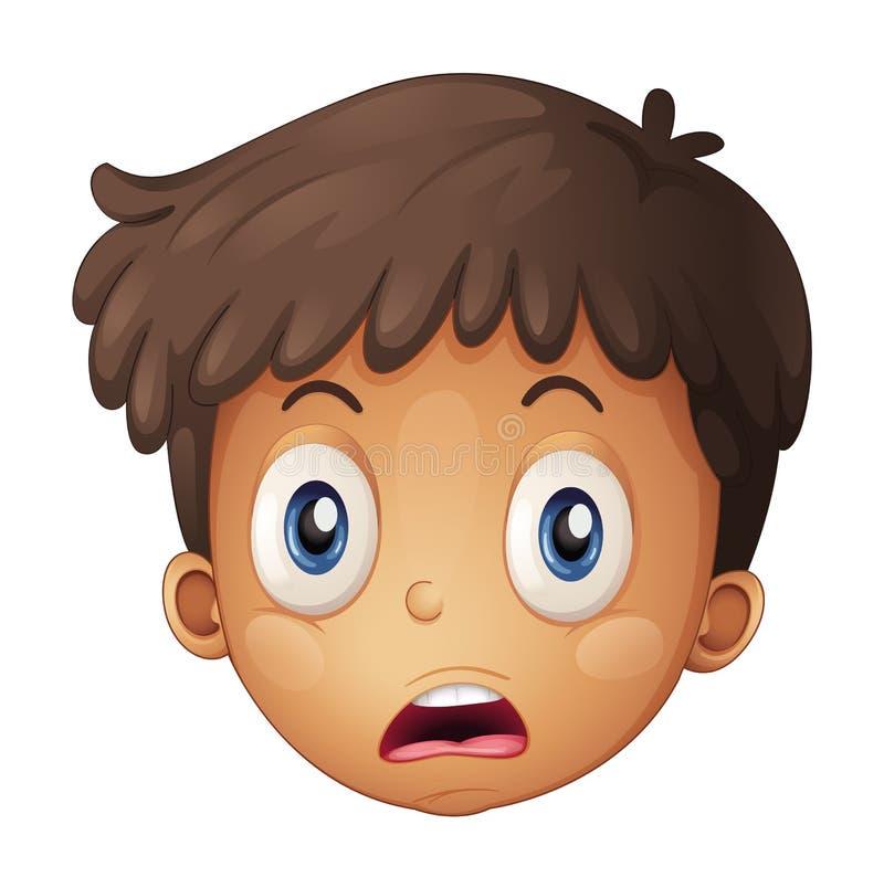Una cara de un muchacho stock de ilustración