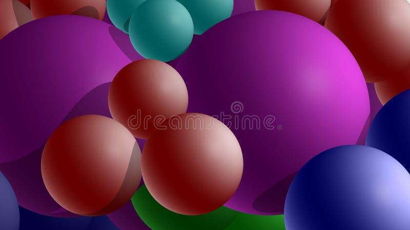 Una carga de esferas ilustración del vector