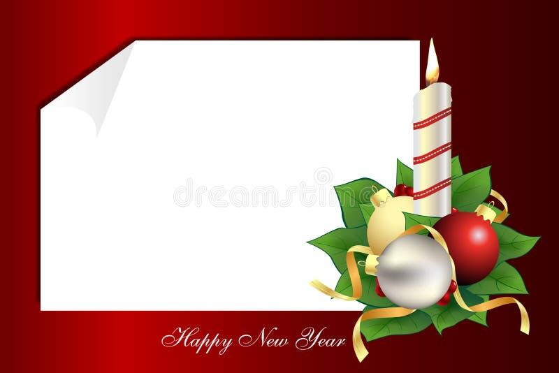 Una carta de la Navidad stock de ilustración