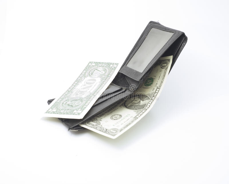 Una cartera con los billetes imágenes de archivo libres de regalías