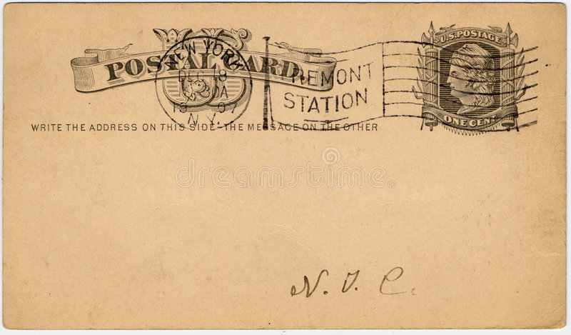 Una cartolina c degli Stati Uniti del centesimo fotografie stock