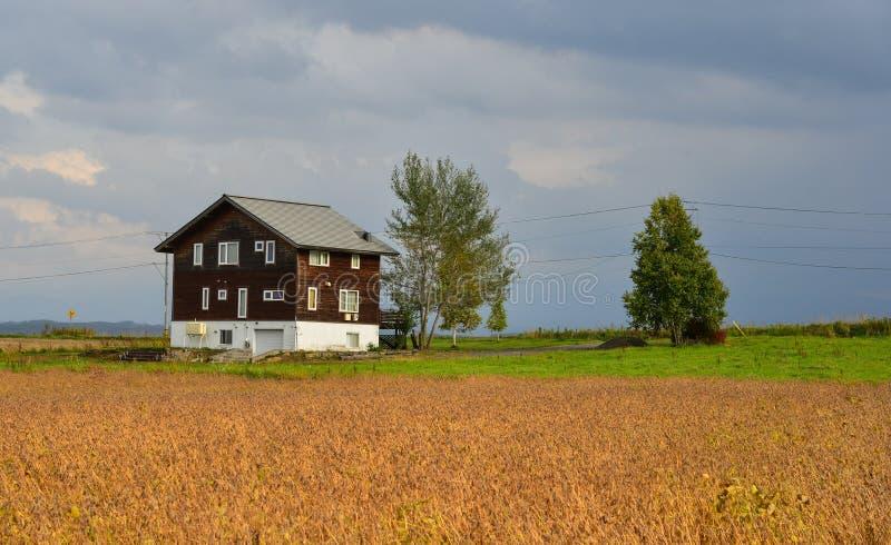 Una casa de madera en el campo fotos de archivo libres de regalías
