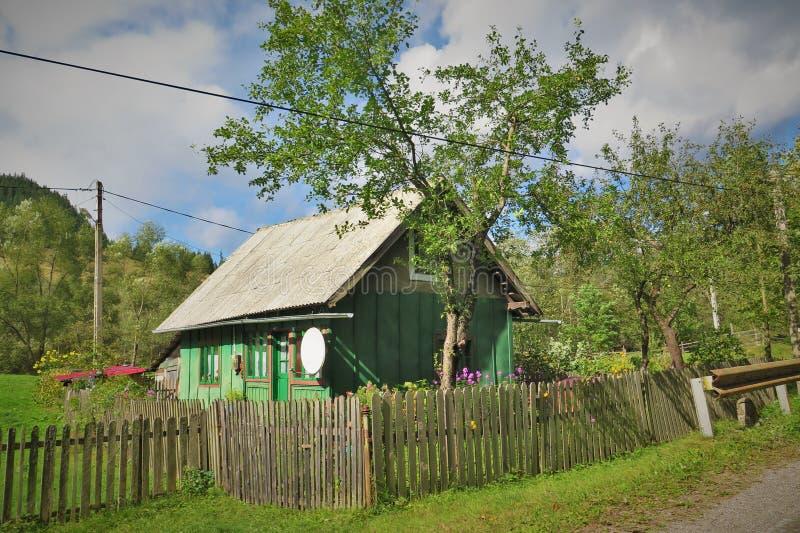 Una casa del aldeano imagen de archivo