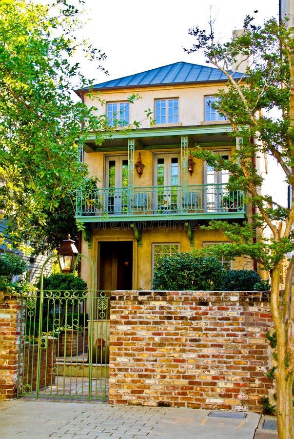 Una casa dello Sc di Charleston nel vecchio stile fotografia stock