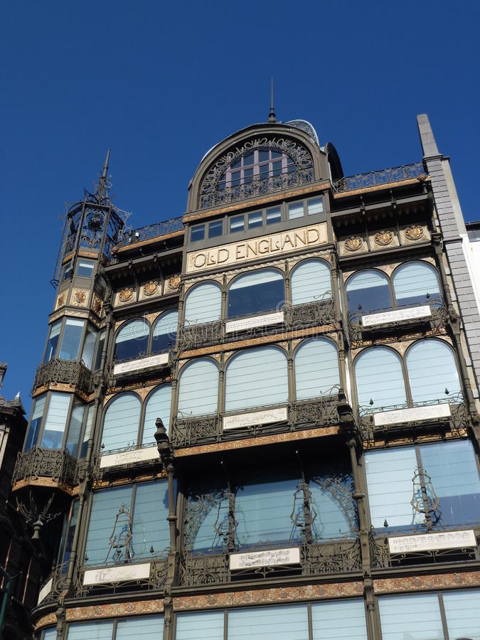 Una casa di stile Liberty a Bruxelles fotografia stock libera da diritti