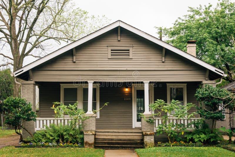 Una casa en Montrose, Houston, Tejas fotografía de archivo libre de regalías