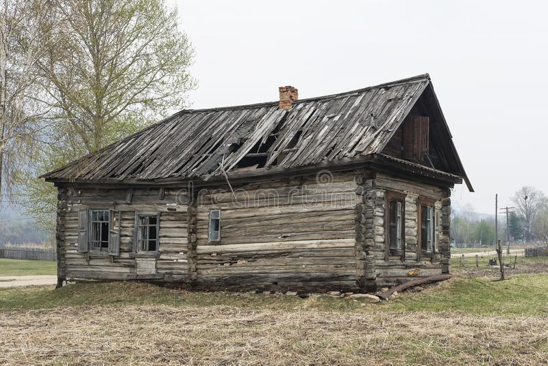 Una casa encantada en ruso fotos de archivo libres de regalías