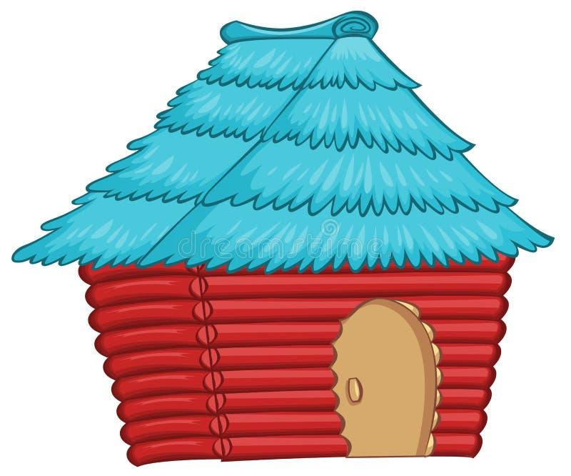 Una casa indigena colourful illustrazione di stock