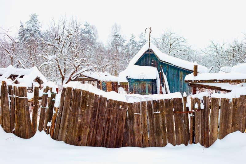 Una casa nel villaggio fotografia stock