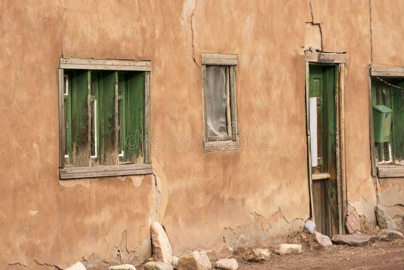 Una casa in Santa Fe, New Mexico fotografie stock libere da diritti