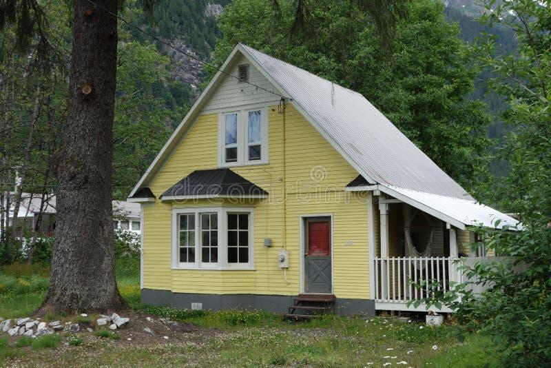 Una casa semplice a Stewart Canada immagine stock libera da diritti