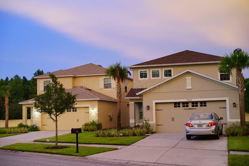 Una casa tipica in Florida fotografia stock