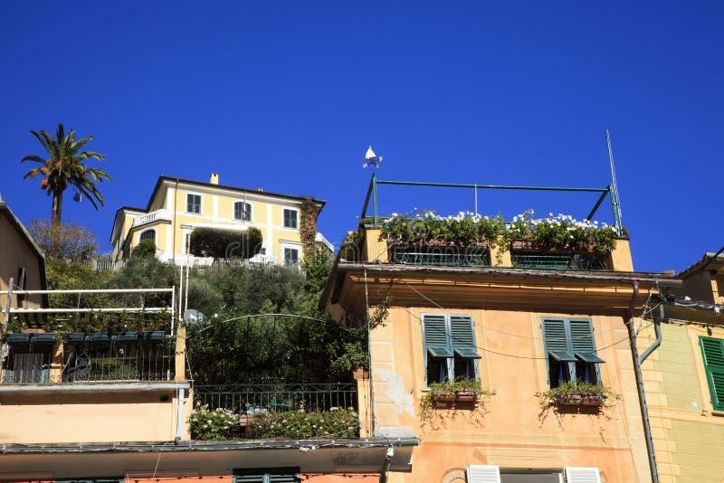 Una casa tipica in Portofino, Genova, Liguria, Italia fotografie stock libere da diritti