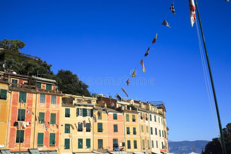 Una casa tipica in Portofino, Genova, Liguria, Italia fotografia stock libera da diritti