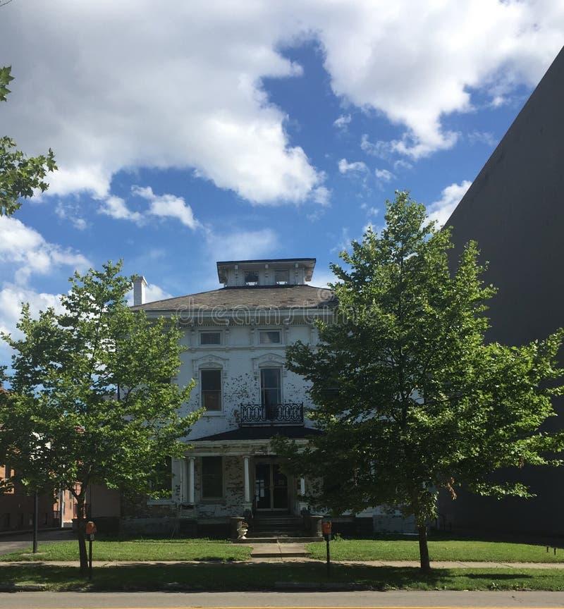 Una casa victoriana de la era civil de las mercancías en Columbus OH fotos de archivo libres de regalías