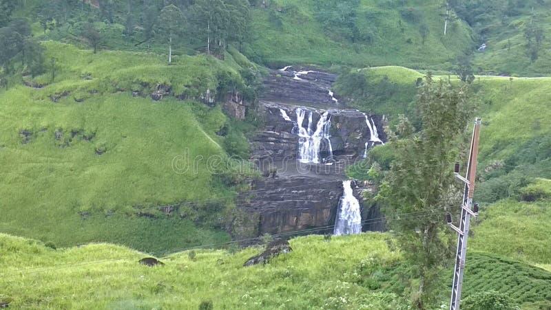 Una cascada srilanquesa imagen de archivo libre de regalías