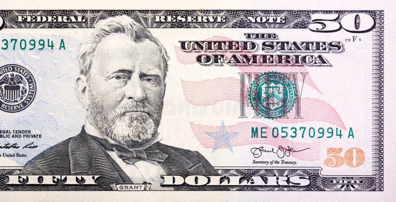 Una cassetta postale degli Stati Uniti lungo il lato di una strada campestre in autunno S banconota in dollari cinquanta 50 vicin immagine stock libera da diritti